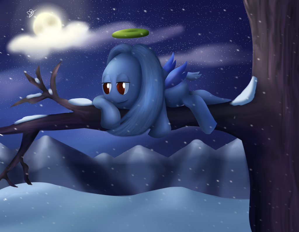 Chao World - Admire the Snow by DarkyBenji