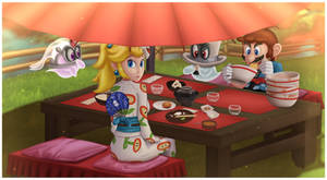Super Mario Odyssey - Eating Together