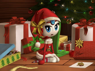 Meloetta Santa Clothe by DarkyBenji