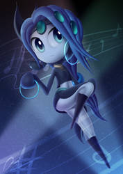 Meloetta - Blue but w/ Green Design by DarkyBenji