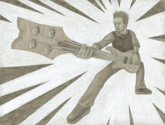 The coolest bassist ever by AcrotomicStudios