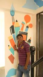 me in my friend studio by chintu4u