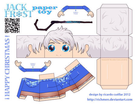 jack frost papercraft paper toy