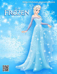 Elsa Frozen Disney by Richmen