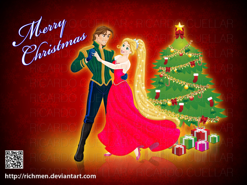 Tangled Christmas Rapunzel Flynn Rider by Richmen