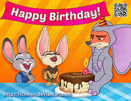 Happy Birthday - Feliz Cumpleanos Zootopia by Richmen
