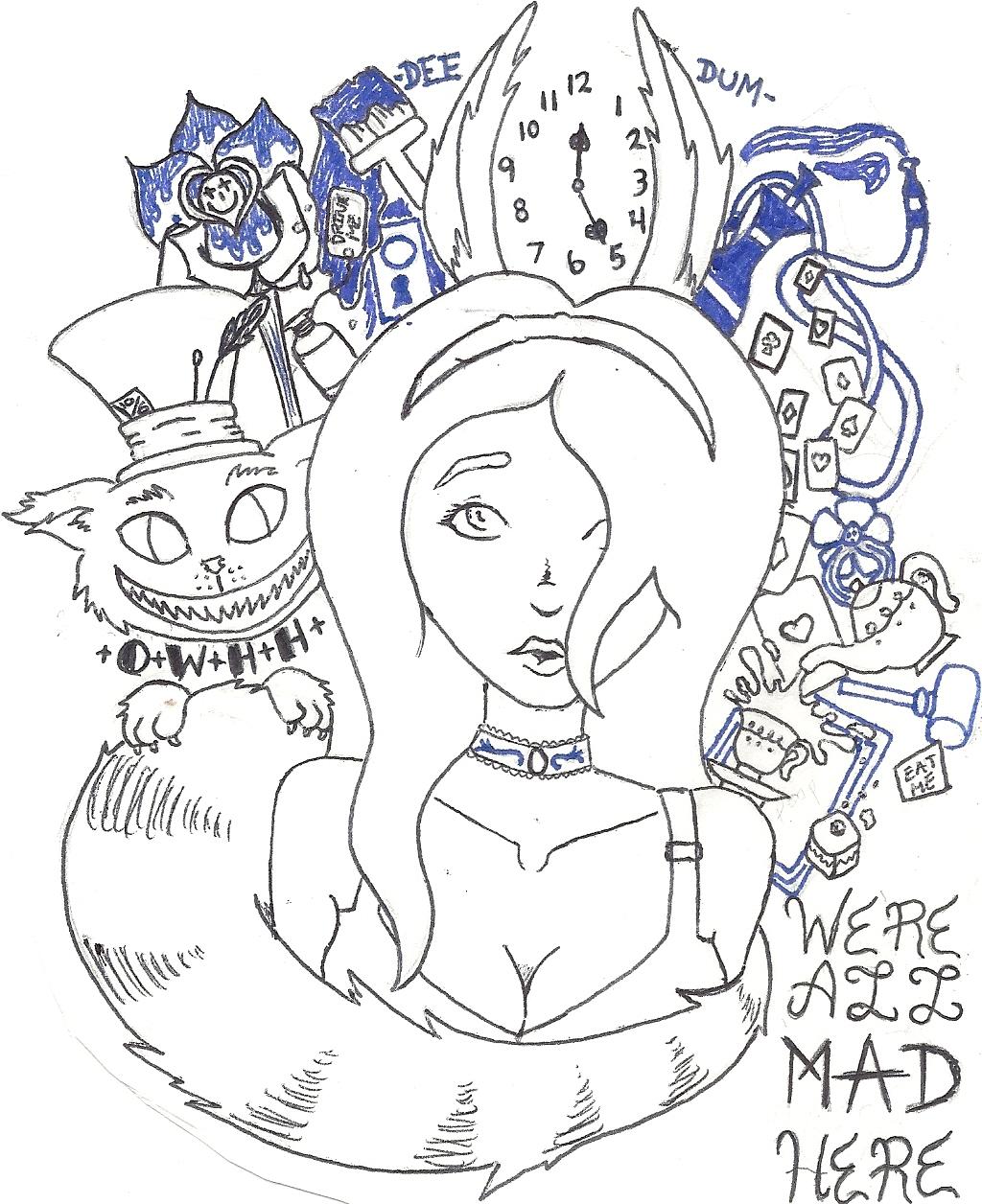 Alice In Wonderland Tattoo Design By Whoxisxalice On Deviantart