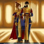 Sarek and Amanda Mirrorverse by VoidOfAll