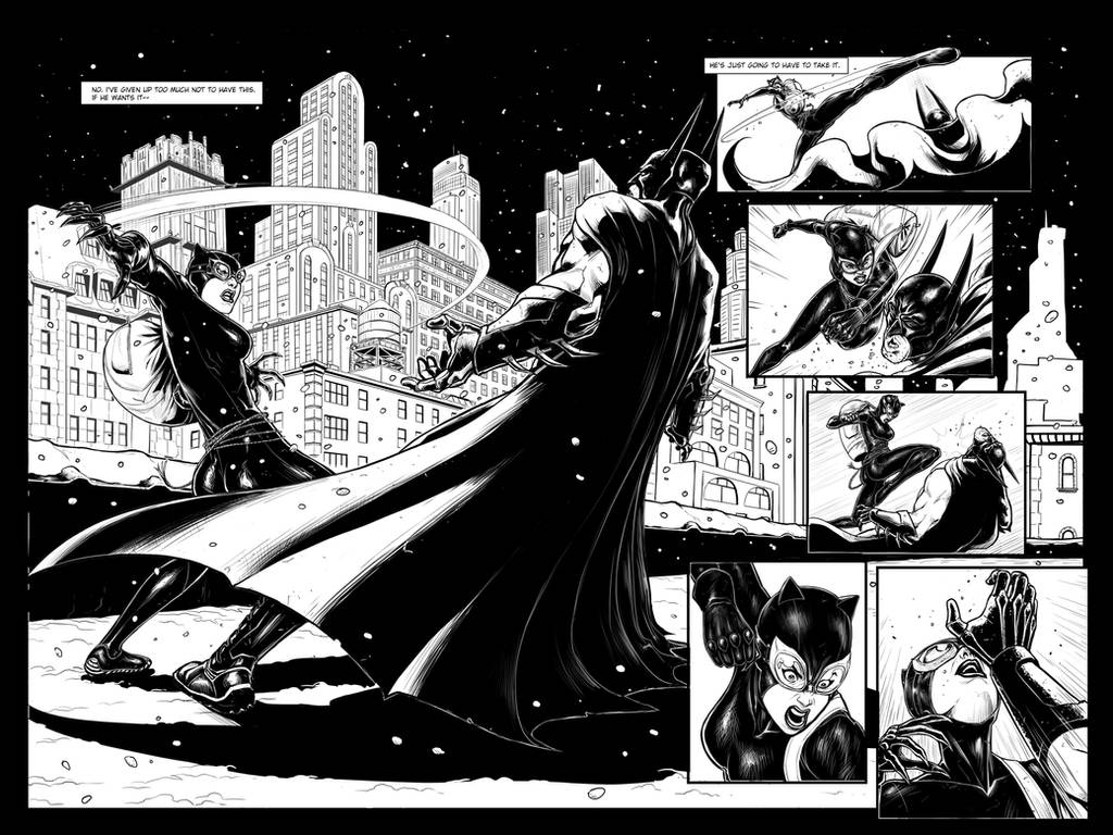 Batman sample page #2 and #3 by KenanZe