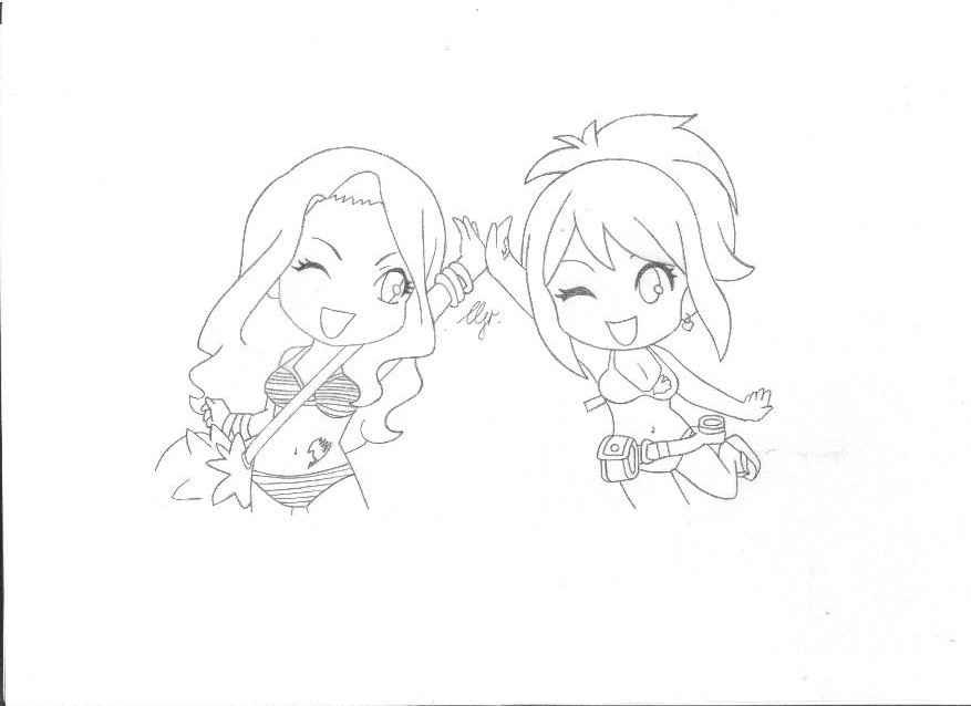 Fairy Tail Lucy and Cana Chibi by RoseOfCherry on DeviantArt
