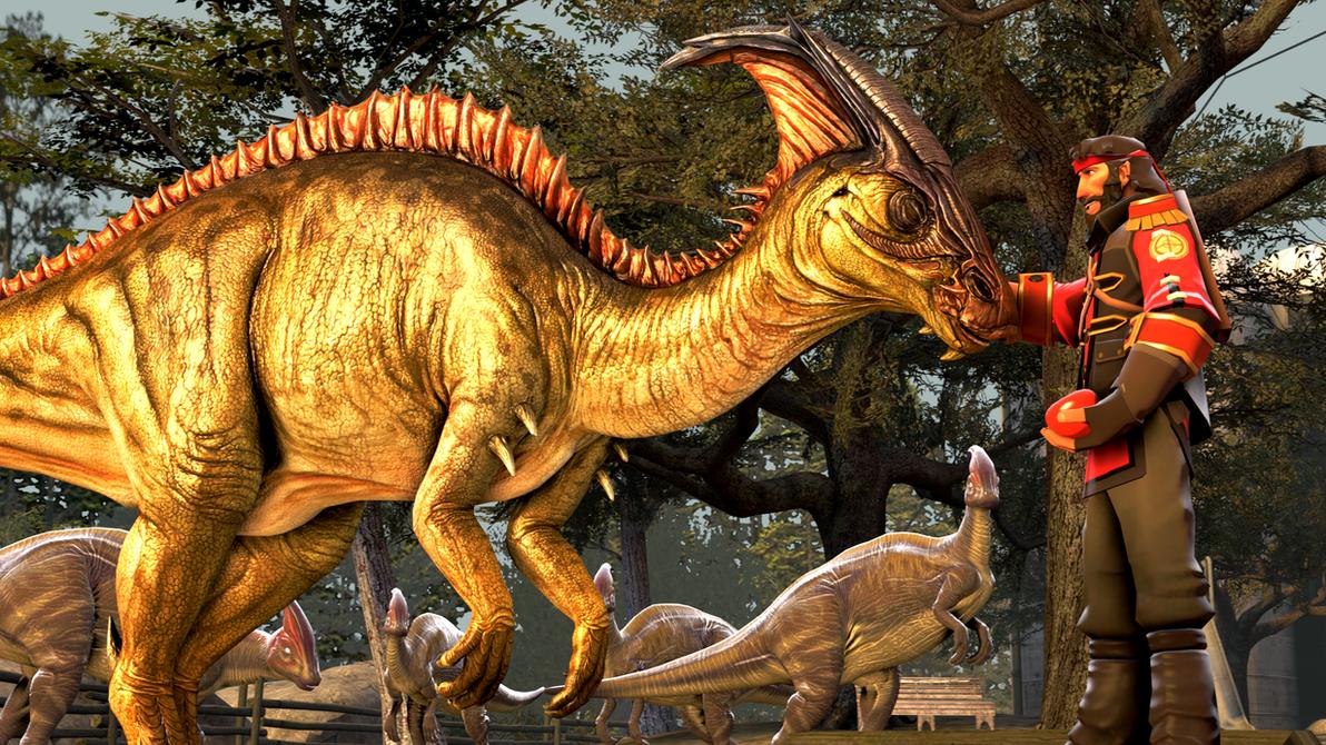 Herd of Parasaurolophus by MullinstheGreat