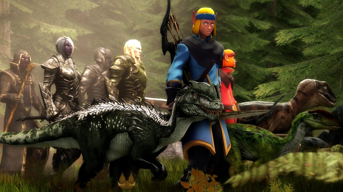 Elven Patrol by MullinstheGreat