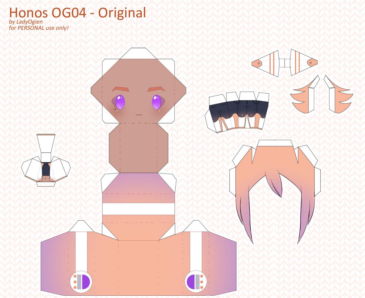 Honos OG04 Papercraft