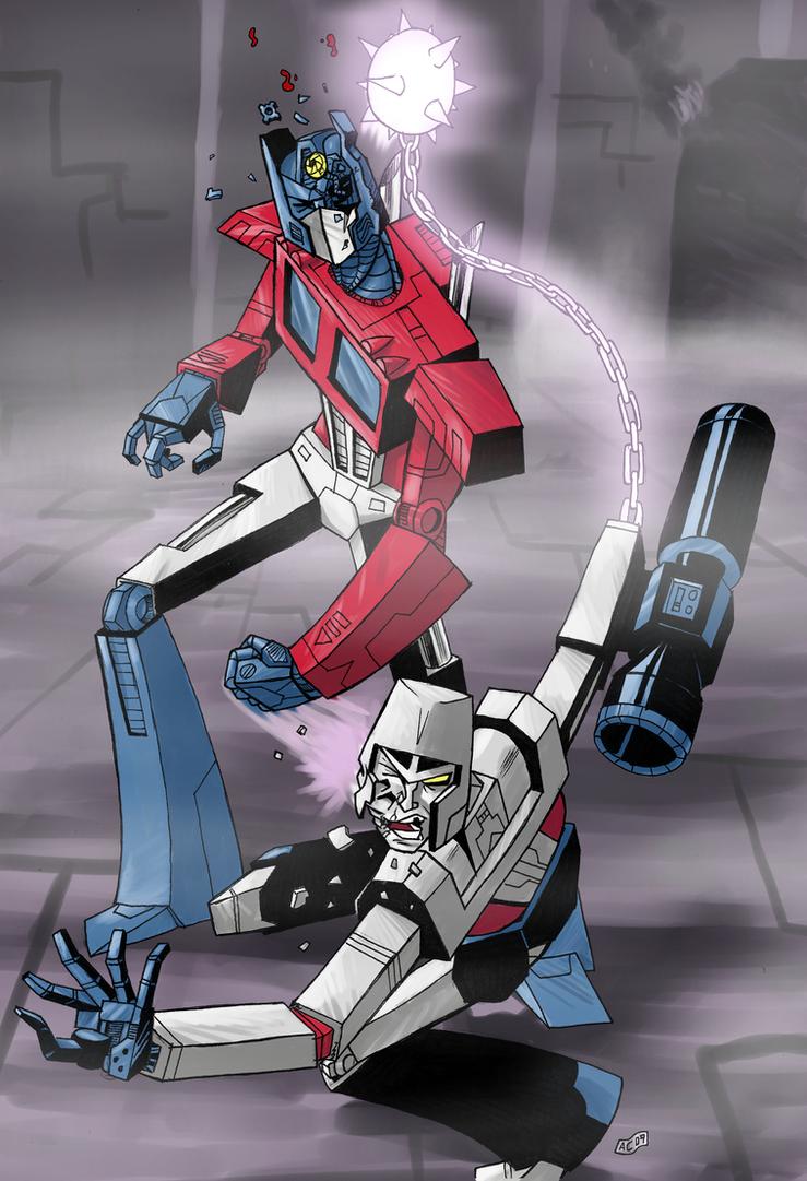 Optimus Prime vs. Megatron by Transypoo on DeviantArt