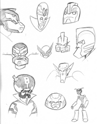 Transformers Animated: Faces by Transypoo
