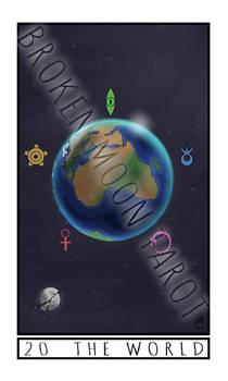 The Broken Moon Tarot: 20 The World