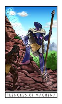 Broken Moon Tarot: Princess of Machina