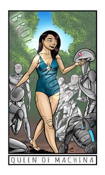 Broken Moon Tarot: Queen of Machina