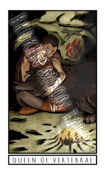 Broken Moon Tarot: Queen of Vertebrae