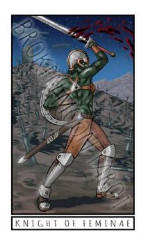 Broken Moon Tarot: Knight of Feminae