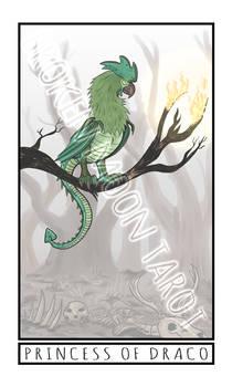 Broken Moon Tarot: Princess of Draco