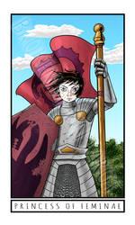 Broken Moon Tarot: Princess of Feminae