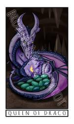 Broken Moon Tarot: Queen of Draco