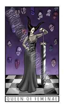 Broken Moon Tarot: Queen of Feminae
