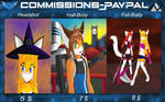Commissions - OPEN (PayPal) by NosferatuGalaxy
