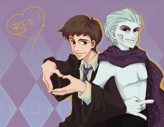 Voldemort+Quirrell - BFF