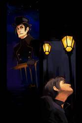 les miserables - javert and valjean