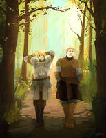 game of thrones - jaime and brienne by shorelle