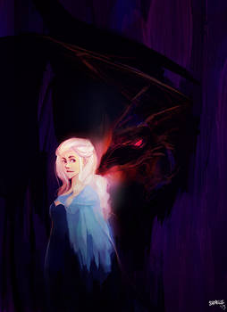 game of thrones - daenerys paintsketch