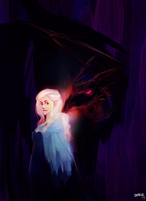game of thrones - daenerys paintsketch by shorelle