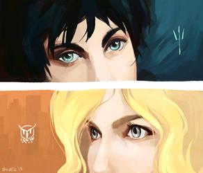 percy + annabeth - eyes by shorelle