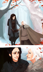 theon and asha - in the godswood by shorelle