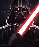 star wars - vader sketchcard WIP