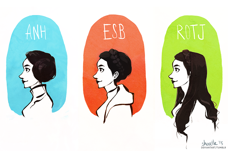 star wars - leia hair evolution by shorelle