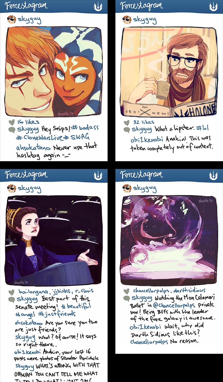 star wars instagram AU