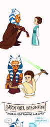 star wars - ahsoka and leia AU by shorelle