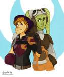 star wars rebel ladies sketch