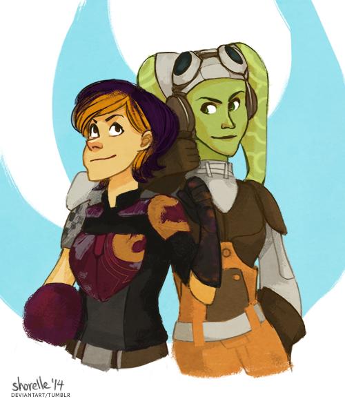 star wars rebel ladies sketch by shorelle