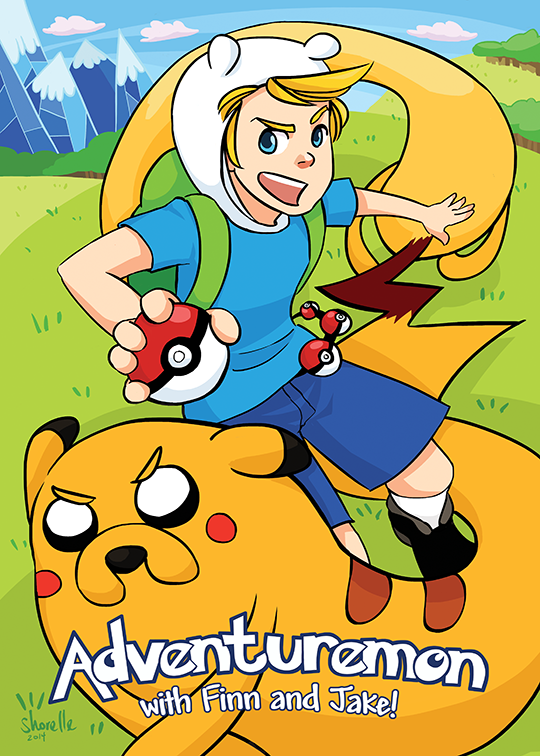 Finn + Jake - Pokemon AU by shorelle