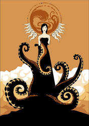 tentacle girl by unded