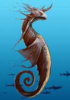 sea dragon horse by unded