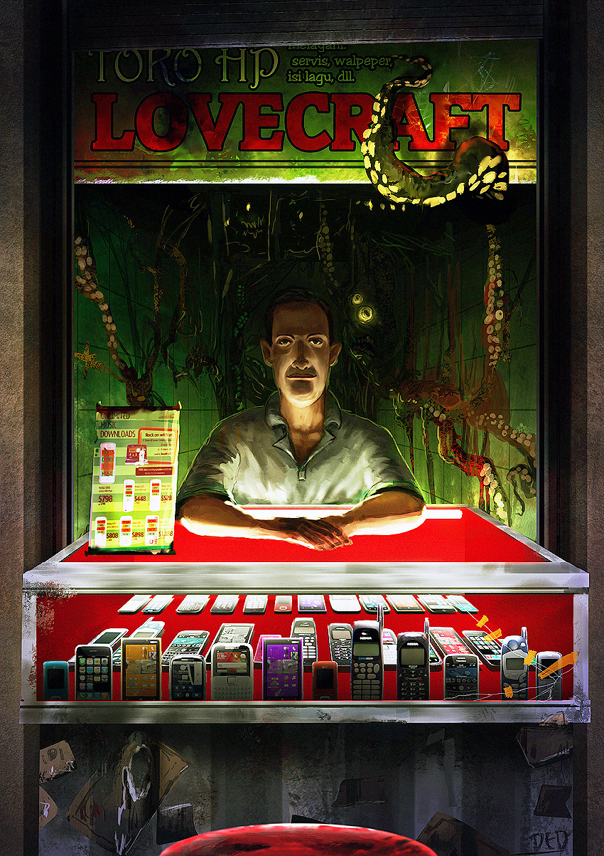 lovecraft's cellphone booth by unded