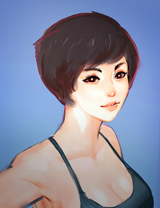 shorthair girl 2 by unded