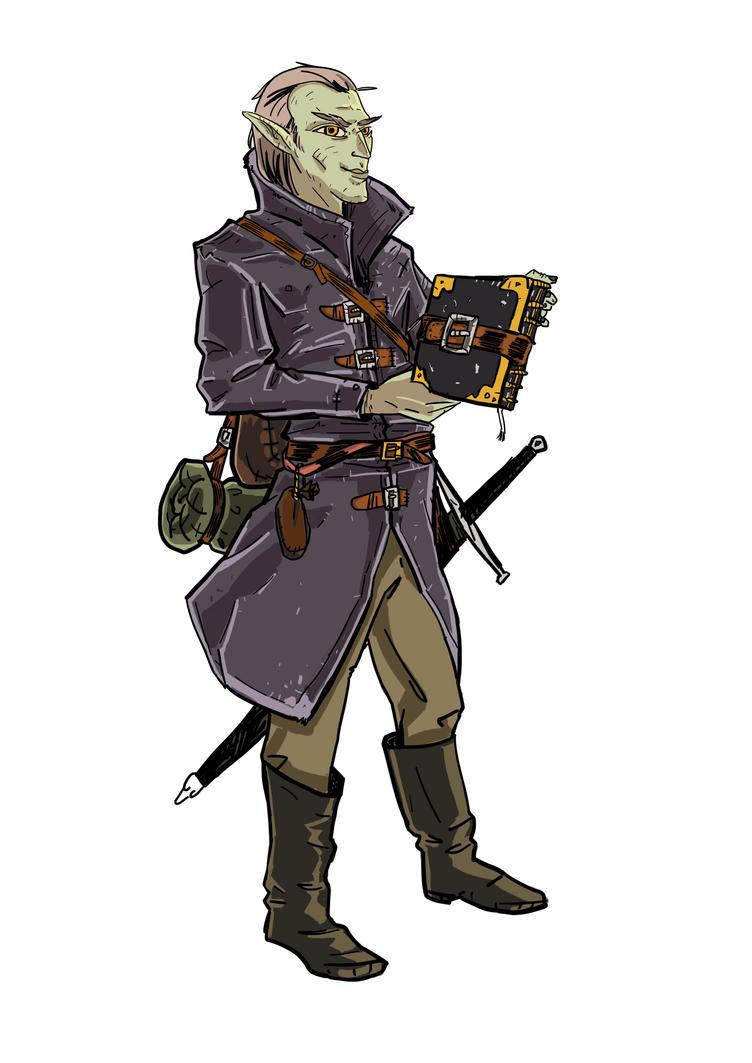 Kefaren, Grey elf mage. by I-am-Magic-User
