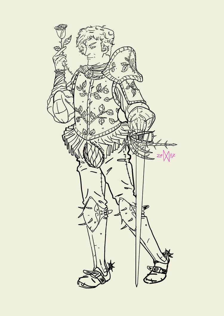 Knight of Rose and Thorn by I-am-Magic-User