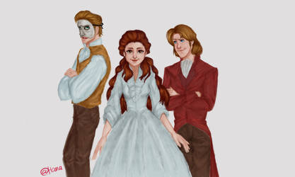 Erik, Christine and Raul by Hana-unnie